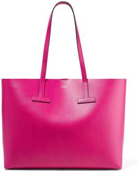 Tom Ford - T Medium Textured-leather Tote - Lyst