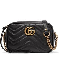 Gucci - Gg Marmont Camera Mini Quilted Leather Shoulder Bag - Lyst ea56e1a13f2f0