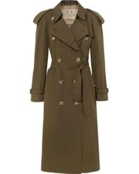 Burberry - The Westminster Long Cotton-gabardine Trench Coat - Lyst