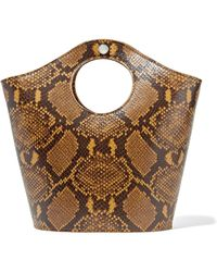 Elizabeth and James - Market Shopper Small Snake-effect Leather Tote - Lyst