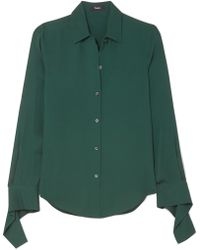 Theory - Silk-crepe Shirt - Lyst