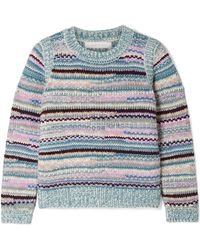 See By Chloé - Striped Knitted Sweater - Lyst