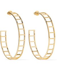 Arme De L'Amour - Gold-plated Hoop Earrings - Lyst