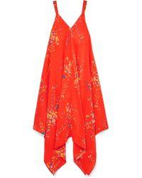 Jaline - Selena Floral-print Silk Crepe De Chine Dress - Lyst