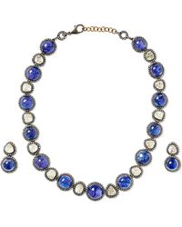 Amrapali - 18-karat Gold, Sterling Silver, Diamond And Tanzanite Necklace And Earrings Set - Lyst