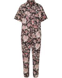 Isabel Marant - Lindsie Floral-print Cotton Jumpsuit - Lyst