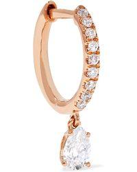 Anita Ko - 18-karat Rose Gold Diamond Earring - Lyst