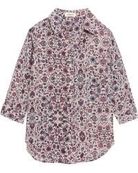 L'Agence - Ryan Floral-print Washed-silk Shirt - Lyst