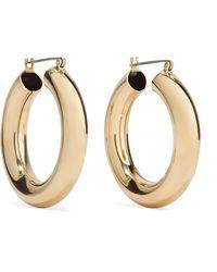 Laura Lombardi - Gold-tone Hoop Earrings Gold One Size - Lyst