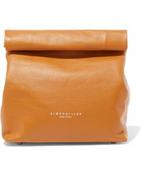 Simon Miller - Lunchbag 20 Textured-leather Clutch - Lyst