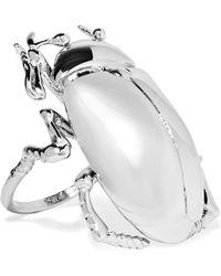 Balenciaga - Silver-tone Ring - Lyst