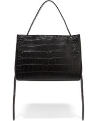 Little Liffner | Croc-effect Leather Tote | Lyst