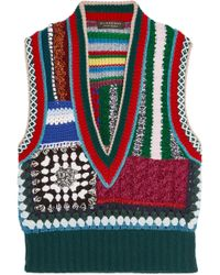 Burberry - Patchwork Crocheted Tank - Lyst