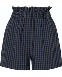 Tibi - Gingham-print Ruffle Pull-on Shorts - Lyst