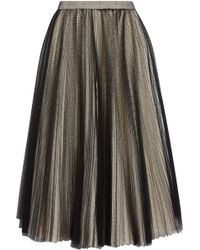 Philosophy Di Lorenzo Serafini - Pleated Point D'esprit Tulle Skirt - Lyst