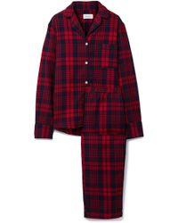 Three J Nyc - Etoile Checked Cotton-flannel Pajama Set - Lyst