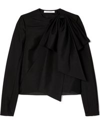 Givenchy - Bow-detailed Mohair And Wool-blend Top - Lyst