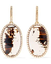 Kimberly Mcdonald - 18-karat Rose Gold, Agate And Diamond Earrings - Lyst