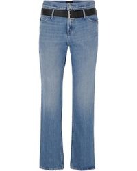 RTA - Dexter Belted Distressed Jeans - Lyst