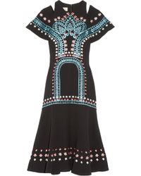 Temperley London - Juniper Cutout Embroidered Crepe Dress - Lyst