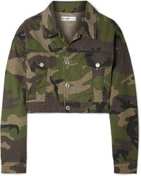 RE/DONE - Cropped Camouflage-print Denim Jacket - Lyst