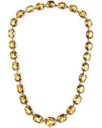 Fred Leighton - 1880s 10-karat Rose Gold Citrine Necklace - Lyst