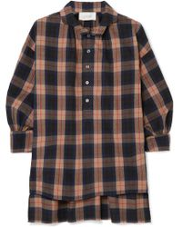 The Great - The Painter's Smock Plaid Cotton-flannel Shirt - Lyst