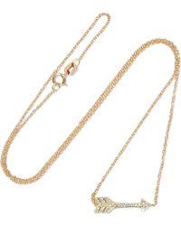 Jennifer Meyer - Mini Arrow 18-karat Gold Diamond Necklace - Lyst