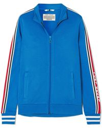 Tory Sport - Striped Stretch-jersey Track Jacket - Lyst