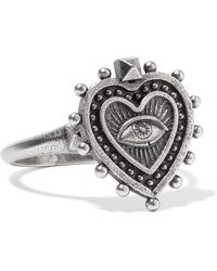 Valentino   Burnished Silver-tone Ring   Lyst