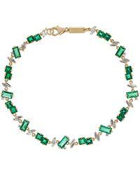 Suzanne Kalan - 18-karat Gold, Emerald And Diamond Bracelet - Lyst