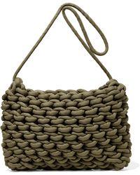 d6e1933e0867d Alienina Nadia Woven Cotton Shoulder Bag in Green - Lyst