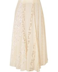 5ff4c1c928 Lover Heather Lace Midi Skirt in White - Lyst