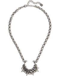 DANNIJO - Urchin Oxidized Silver-plated Swarovski Crystal Necklace - Lyst