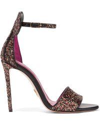 Oscar Tiye - Minnie Glittered Leather Sandals - Lyst