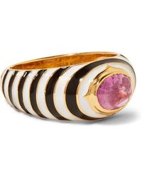Percossi Papi - Gold, Enamel And Tourmaline Ring - Lyst