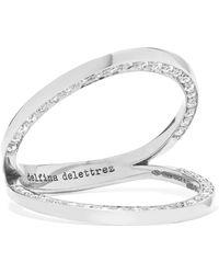 Delfina Delettrez - 18-karat White Gold Diamond Ring - Lyst