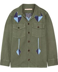 Bliss and Mischief - Pray For Rain Embroidered Cotton-twill Jacket - Lyst