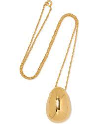 Sophie Buhai - Egg Gold Vermeil Necklace - Lyst