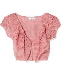 Miguelina - Rosalie Crochet-trimmed Linen Top - Lyst
