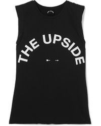 The Upside - Muscle Printed Cotton-jersey Tank - Lyst
