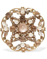 Erickson Beamon - Accidental Tourist Gold-plated Multi-stone Brooch - Lyst