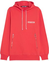 Tim Coppens - Wave Embroidered Cotton-jersey Hooded Top - Lyst