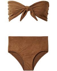 Miguelina - Alanis Faux Suede Bandeau Bikini - Lyst
