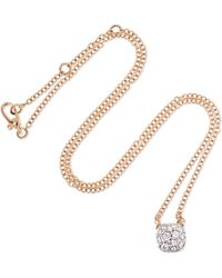 Pomellato - Nudo 18-karat Rose And White Gold Diamond Necklace - Lyst