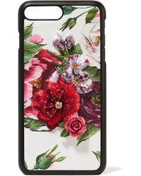 Dolce & Gabbana - Embellished Floral-print Textured-leather Iphone 7 And 8 Plus Case - Lyst