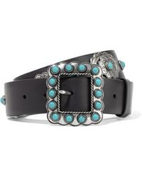 Prada - All Designer Products - Embellished Leather Belt - Lyst