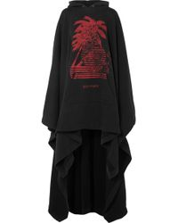 Palm Angels - Oversized Printed Cotton-terry Hooded Cape - Lyst