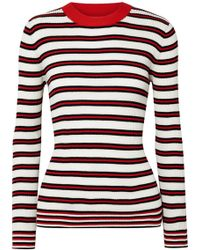 Chinti & Parker - Striped Ribbed Cotton Sweater - Lyst
