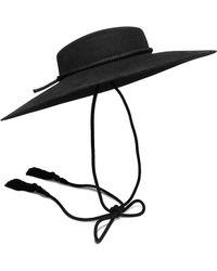 1455592800c8d Lyst - Saint Laurent Woman Embroidered Wool Beanie Black in Black
